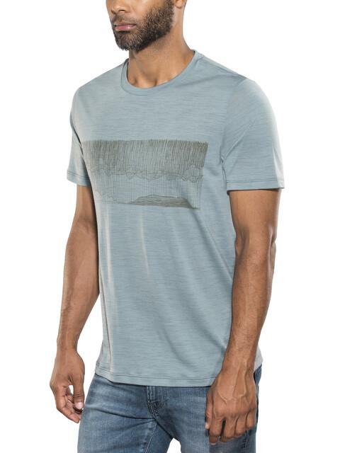 Icebreaker M's Tech Lite Hard Rain SS Crewe Shirt vapour